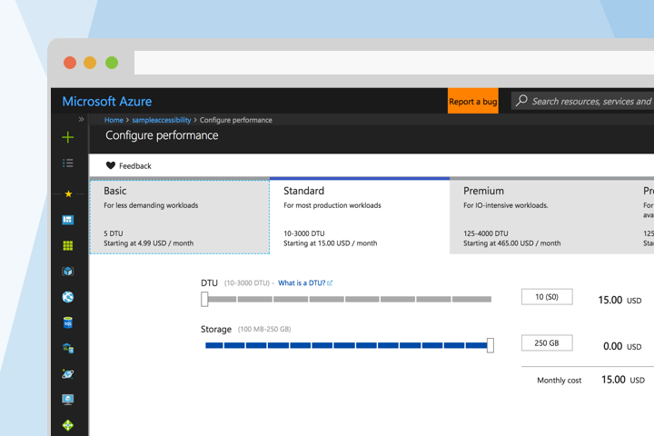 Azure SQL Database Resources & Pricing